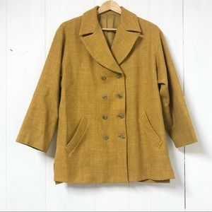 Vintage Lautreamont Mustard Yellow Tweed Blazer